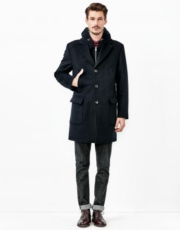 Abrigo cashmere azul