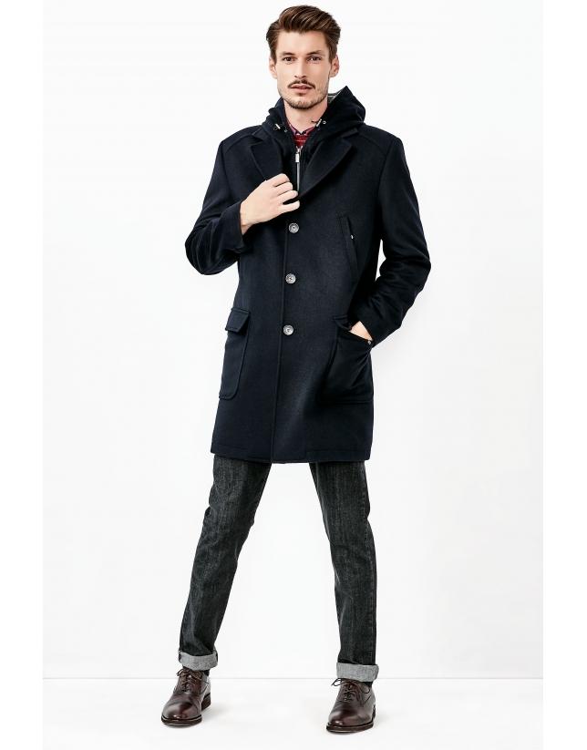 Manteau en cachemire bleu