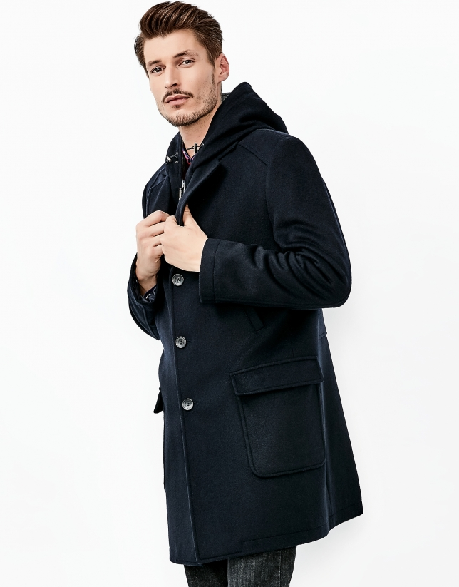 Blue cashmere coat