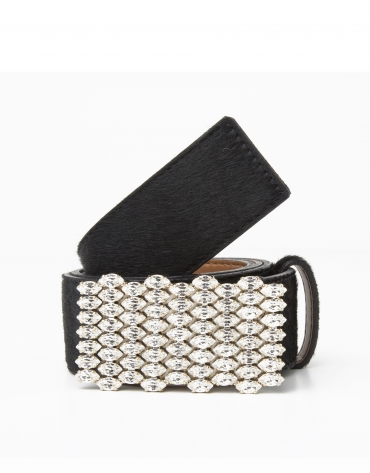 Black jewelry belt