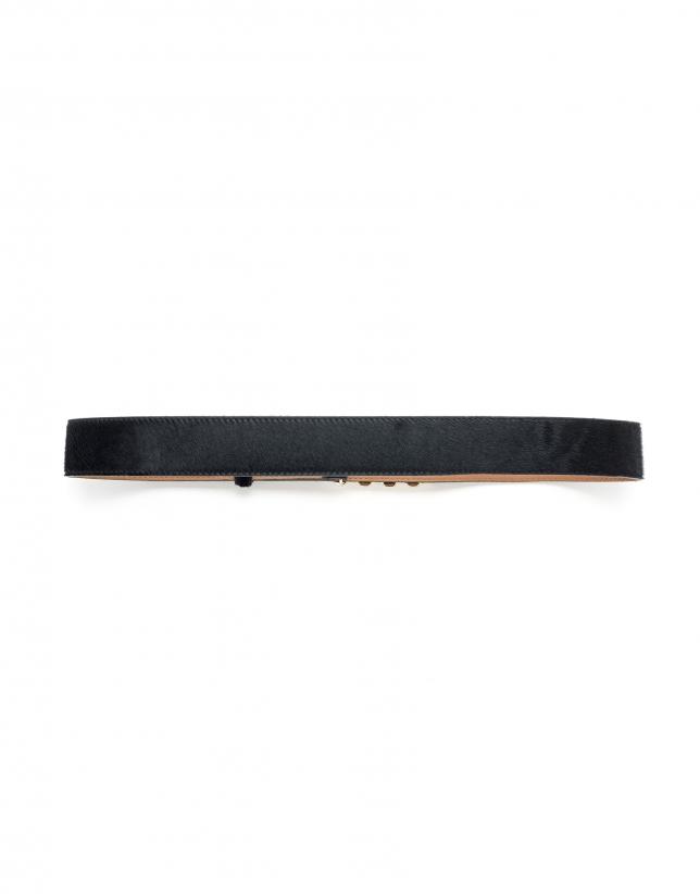 Cinturón joya negro