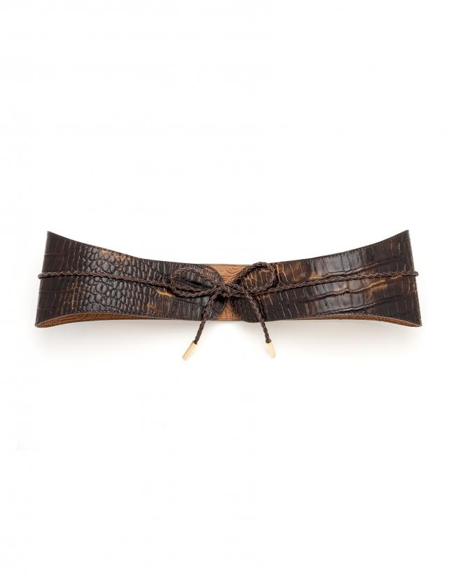 Cinturón fajín marrón
