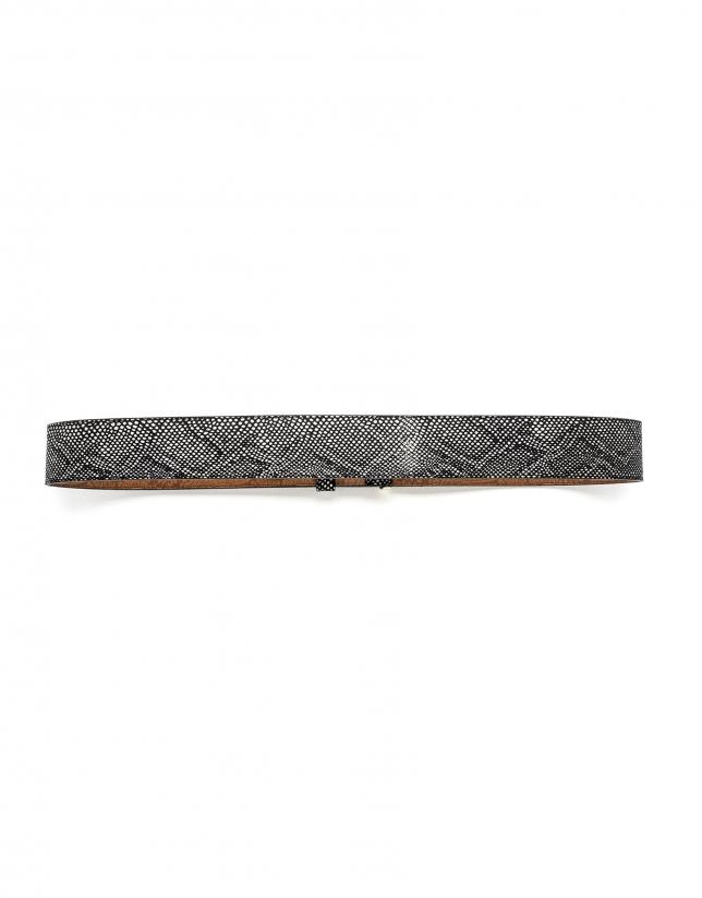 Black logo belt