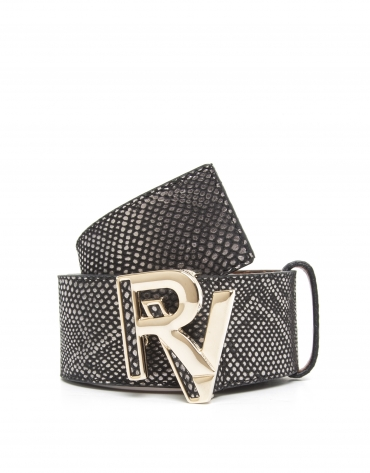 Cinturón logo negro