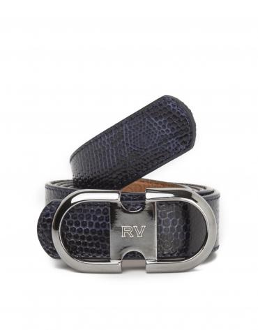 Cinturón serpiente azul