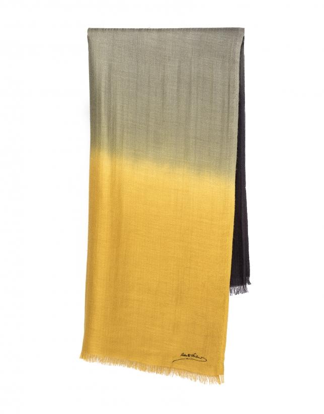 Brown print scarf