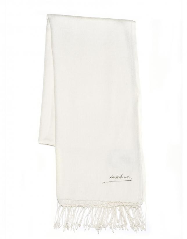 Foulard blanco roto