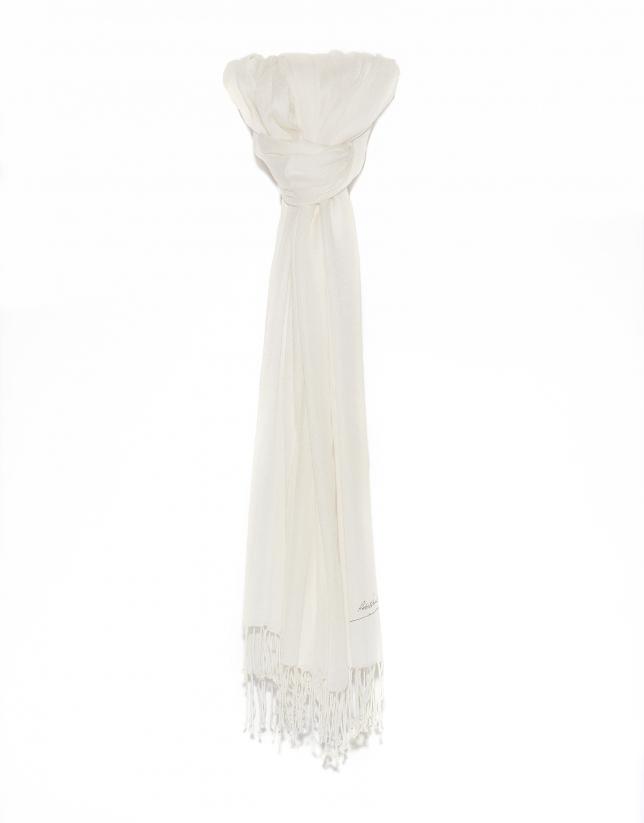 Foulard blanc cassé