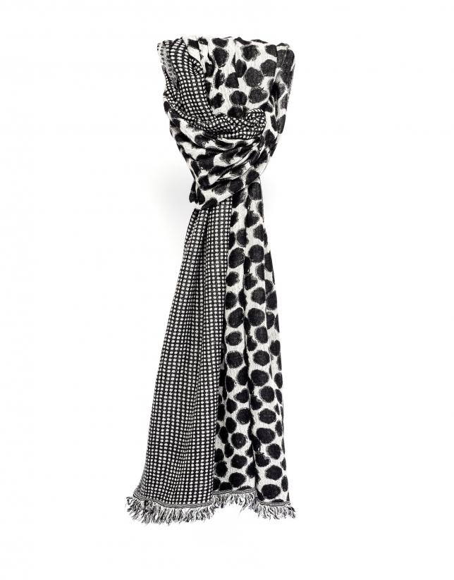 Foulard blanco y negro
