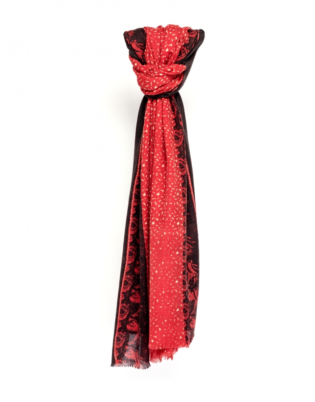 Foulard à motif rouge
