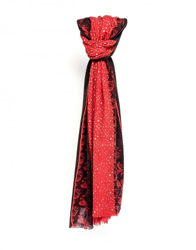 Foulard estampado rojo