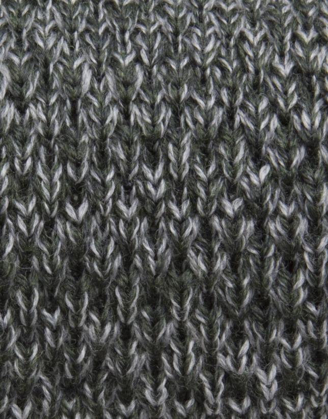 Corbata punto verde y gris