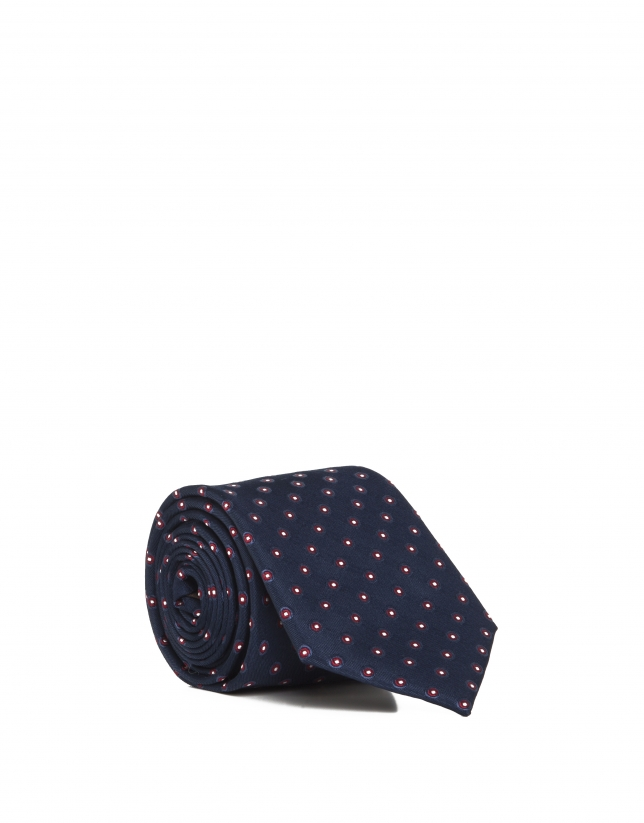 Blue dotted tie