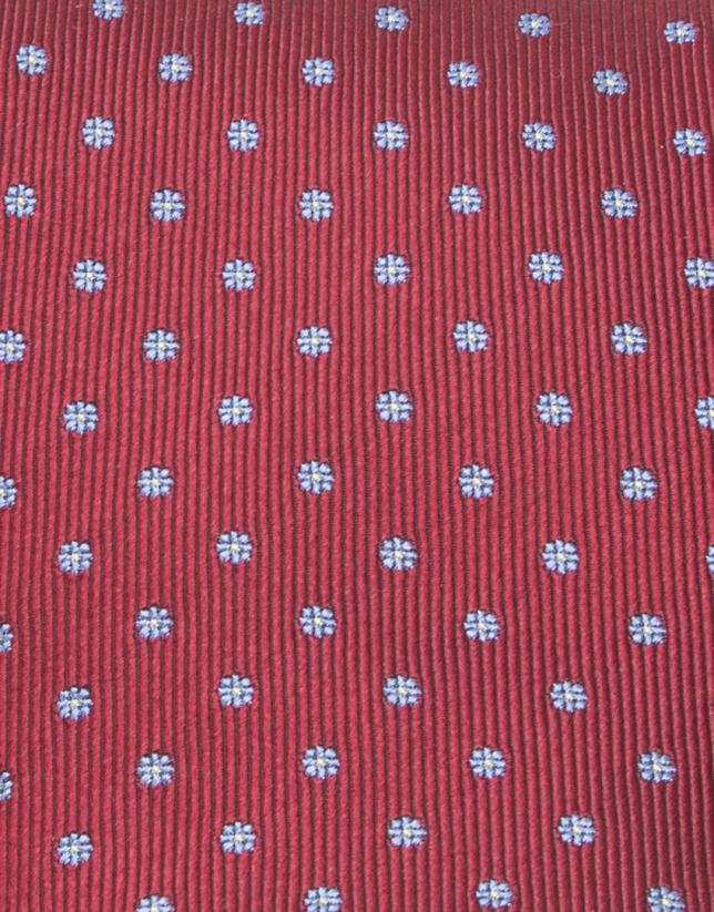 Red floral tie