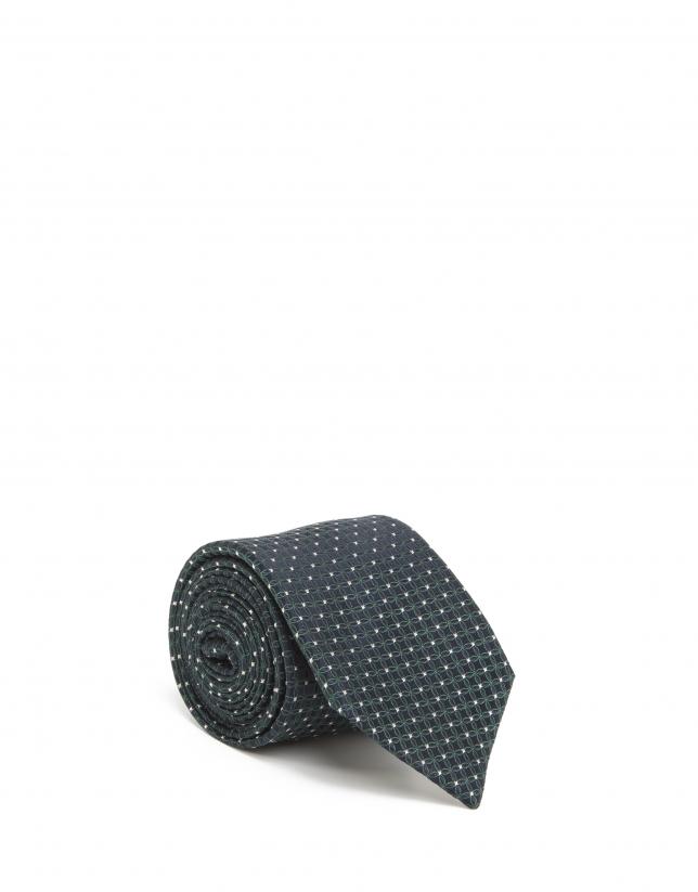 Cravate bleue à fleurs