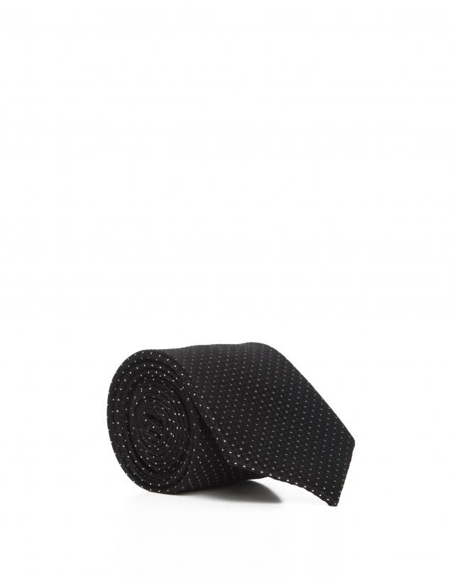 Corbata topos negra