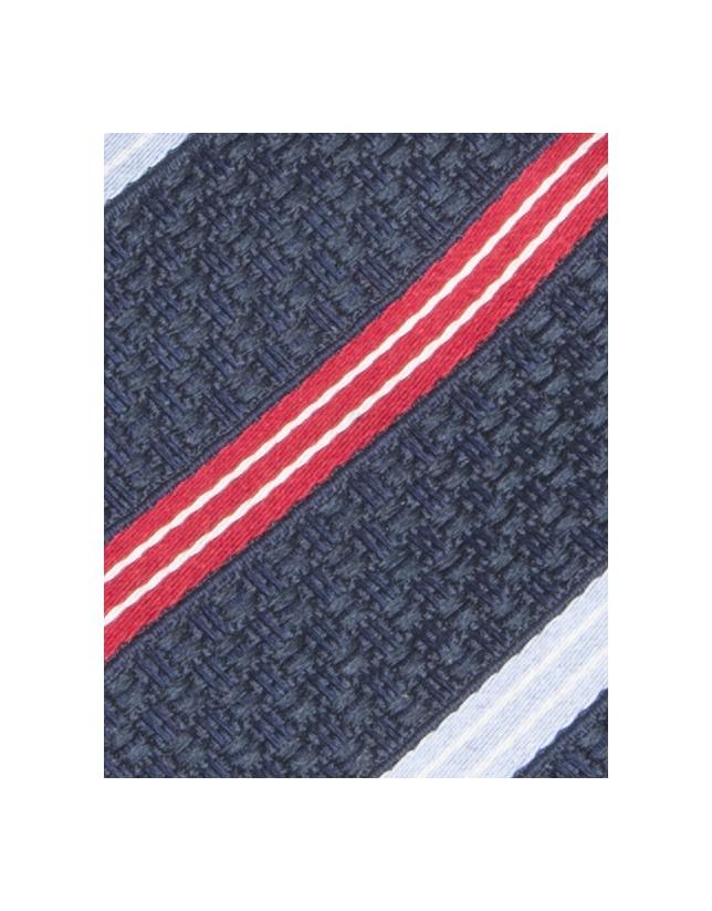 Cravate à rayures rouge et blanche