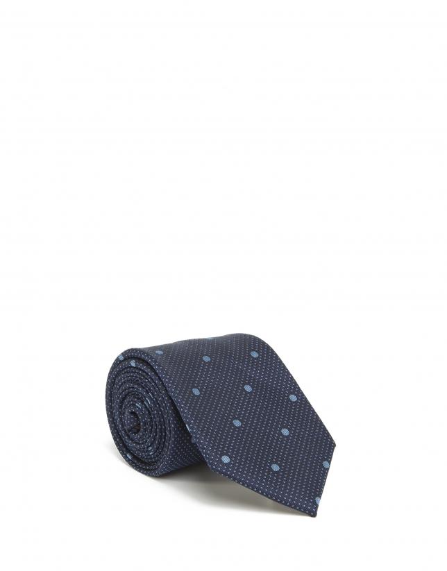 Corbata topos azul claro