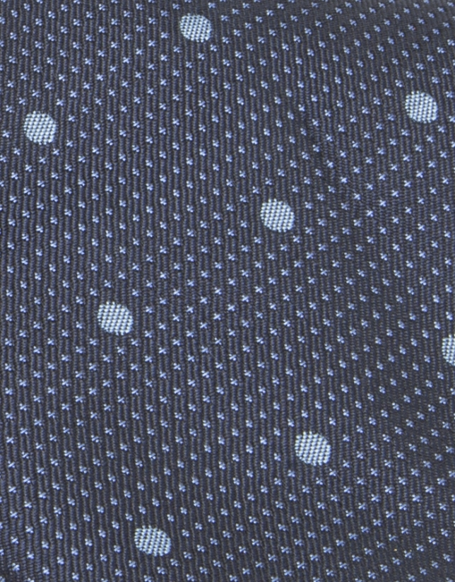 Light blue dotted tie