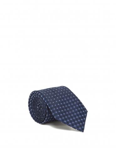 Cravate bleue à losanges