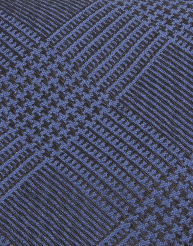 Cravate bleue à carreauz prince de Galles