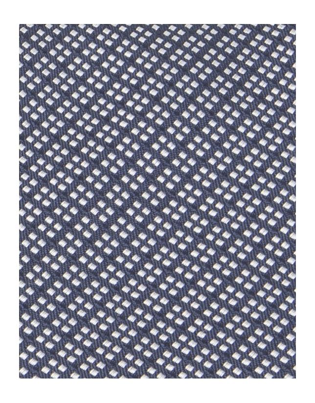 Cravate à petits carreaux bleu marine et blanche