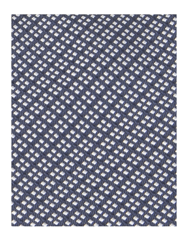 Navy and white checked tie
