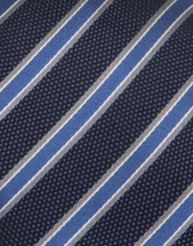 Cravate bleue à rayures