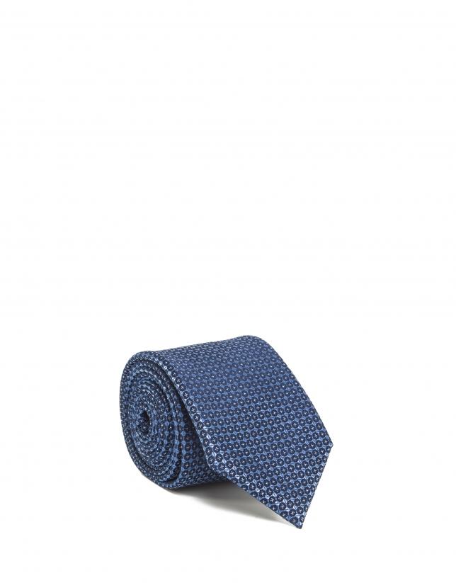 Corbata lunares azul