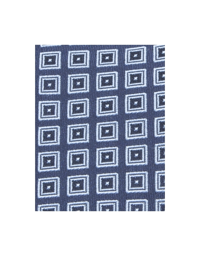 Cravate à losanges jacquard bleue