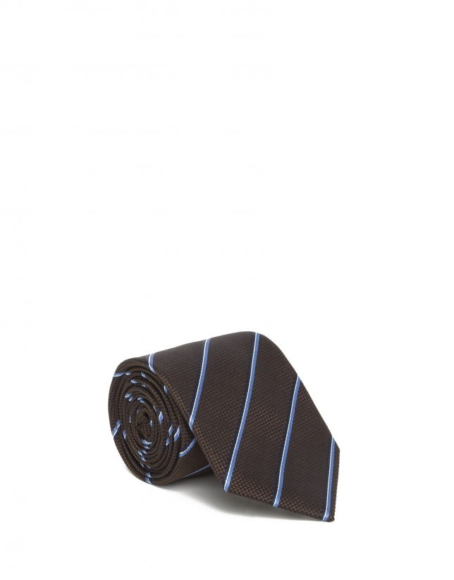 Blue striped tie