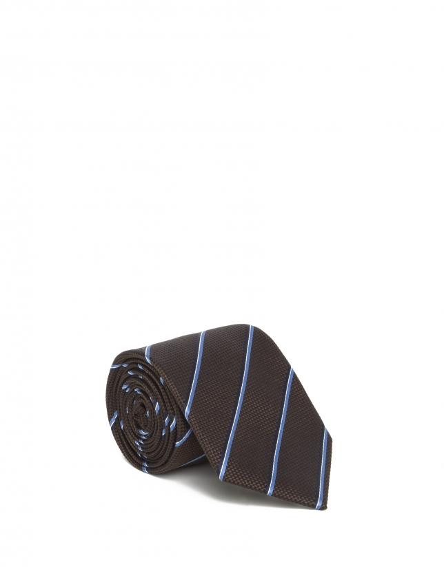 Corbata rayas azul
