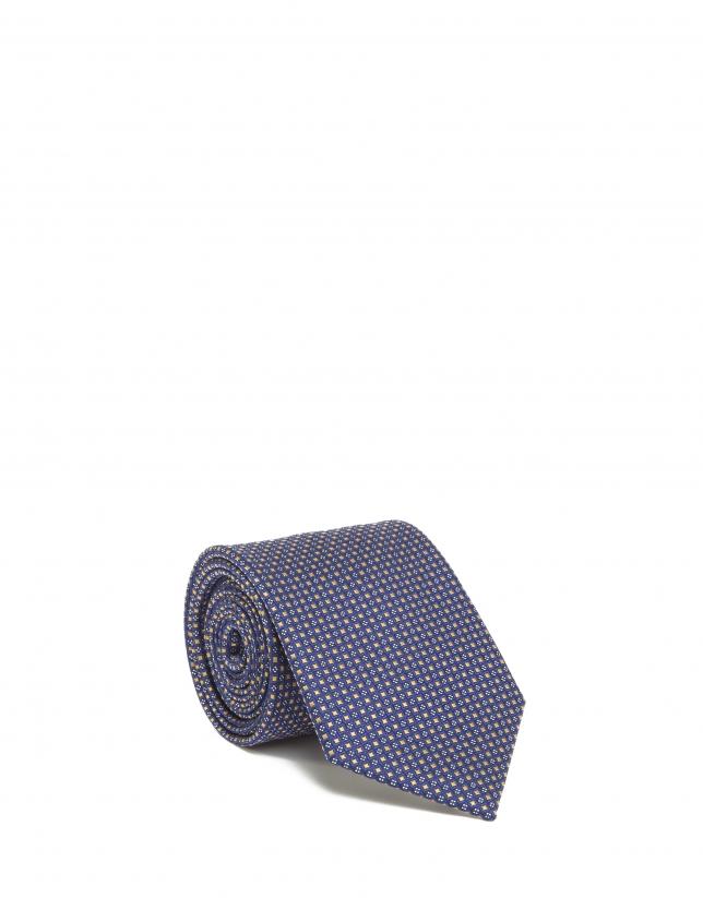 Cravate jaune en soie