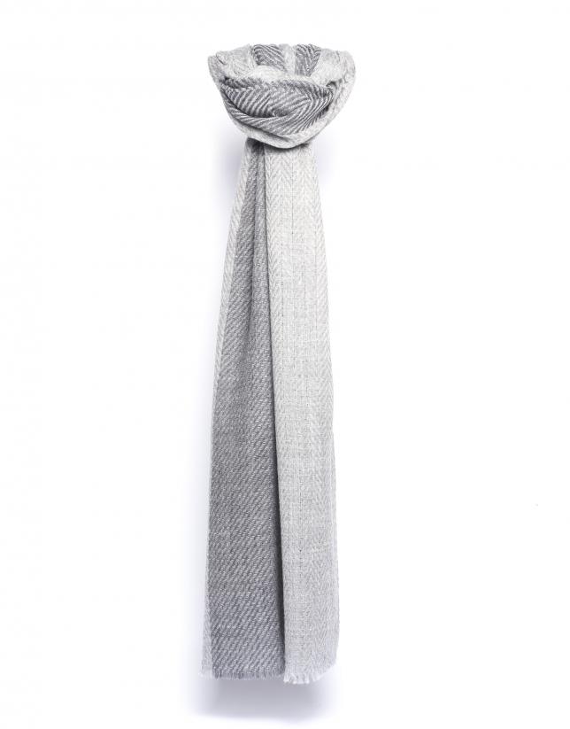 Beige herringbone scarf