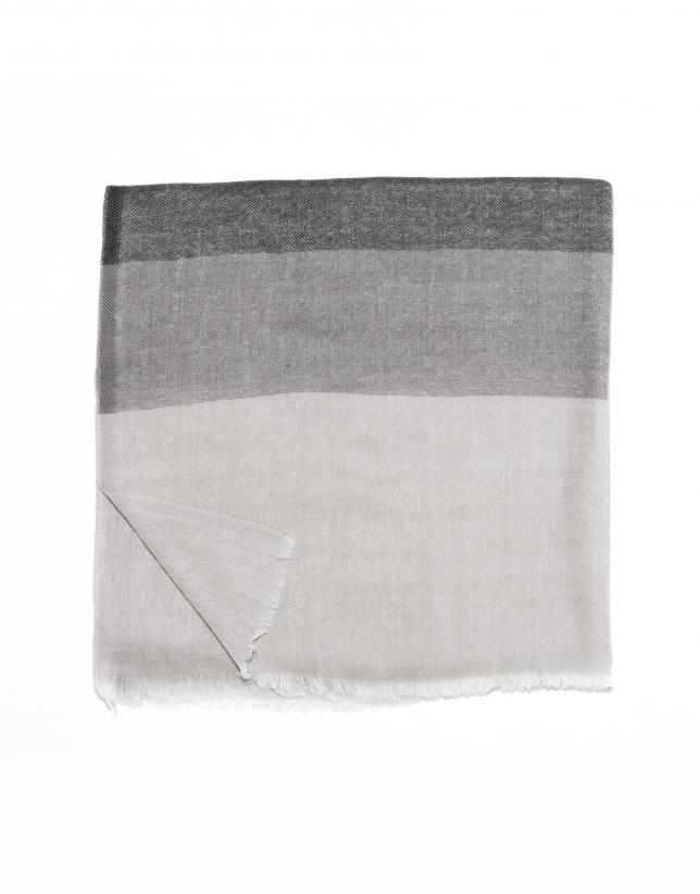 Beige striped scarf
