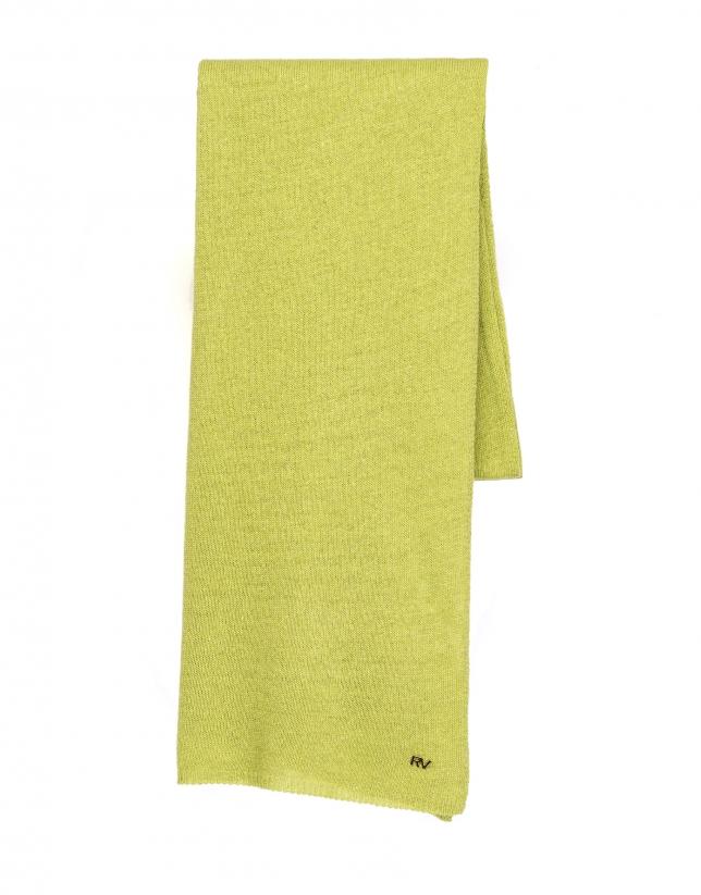 Bufanda punto liso verde