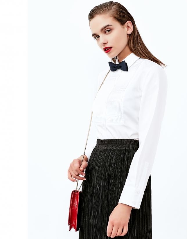 Chemise blanche à coulisses
