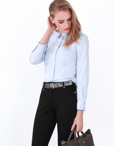 Camisa manga larga azul