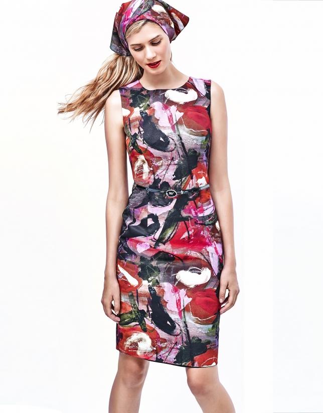 Aubergine print dress