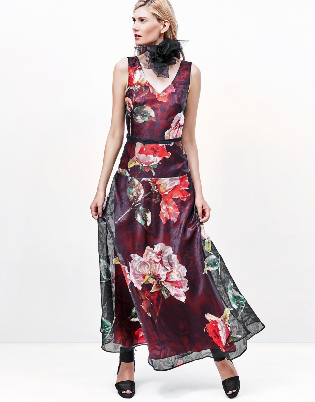 Robe longue imprimé floral