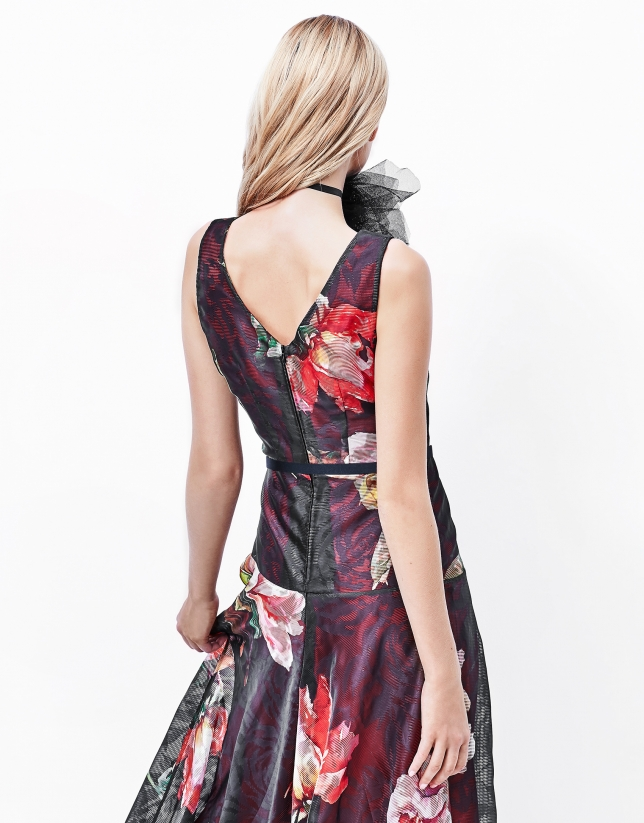 Floral print long dress
