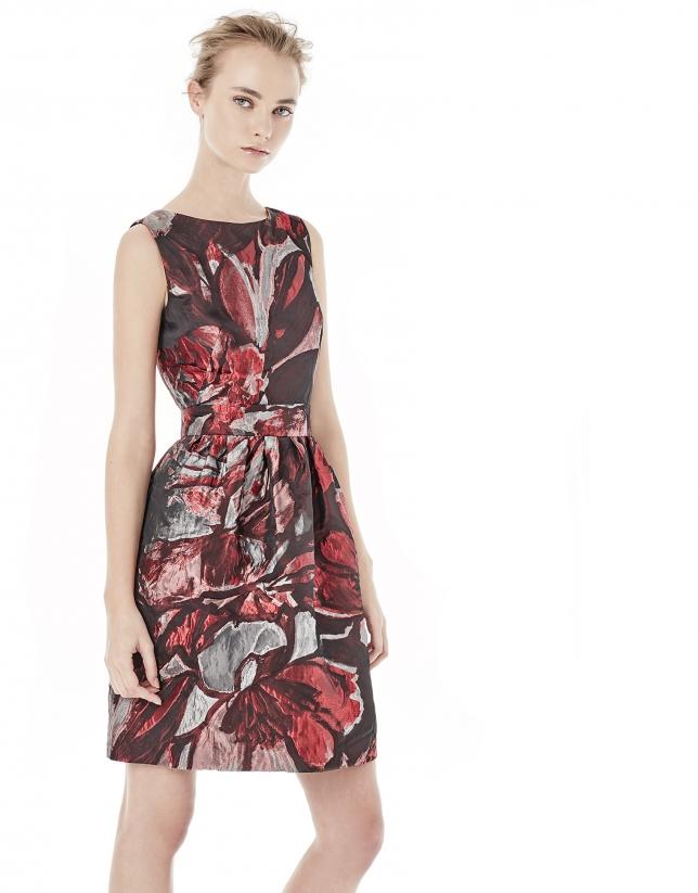 Jacquard flowing dress
