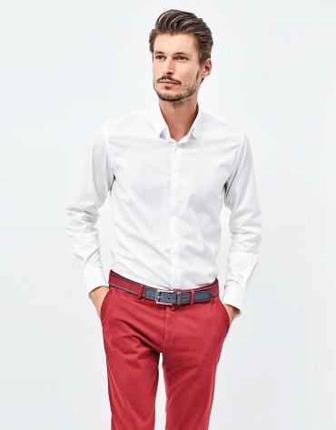 Chemise blanche en popeline