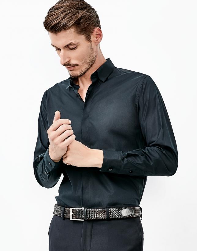 Camisa popelín negra