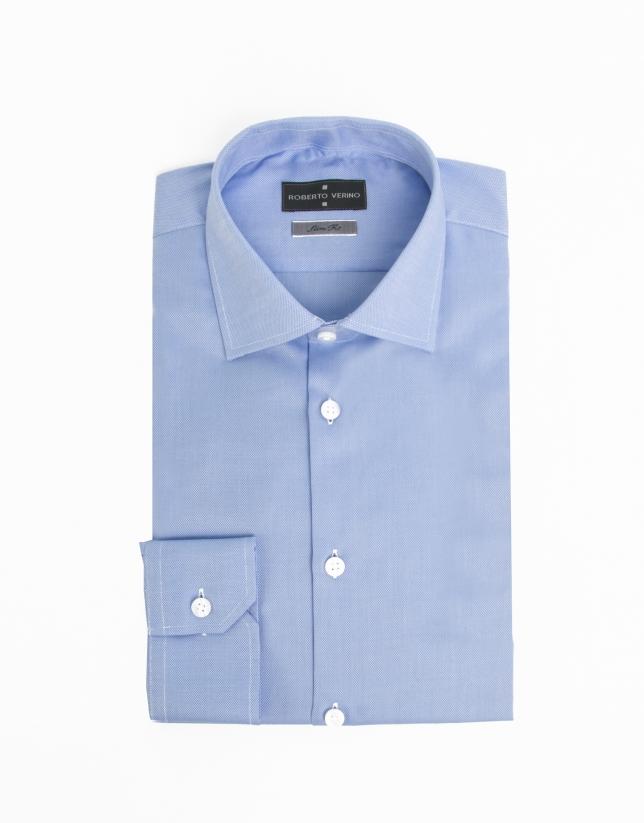 Chemise Oxord bleue en coton