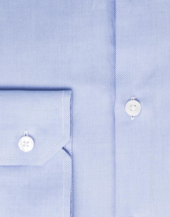 Camisa algodón oxford azul