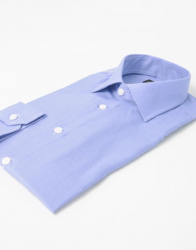 Blue Oxford cotton shirt