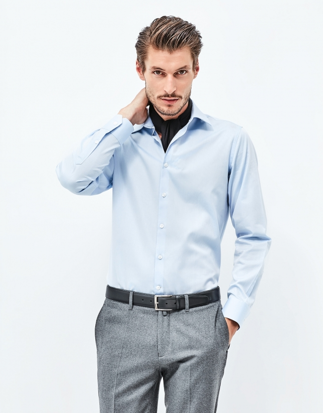 Blue quadrille shirt