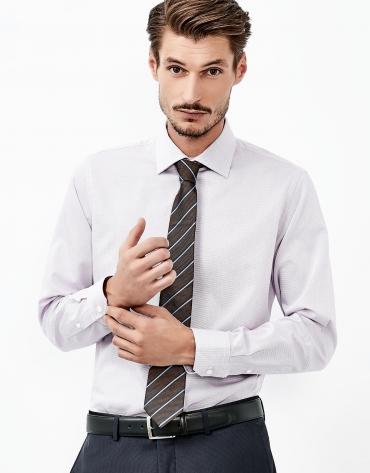 Camisa estructura morada
