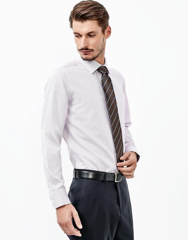 Purple structured shirt